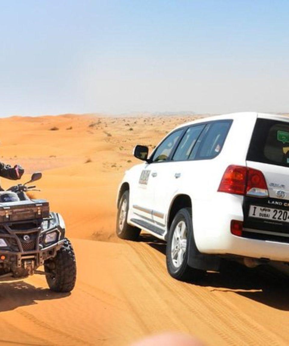 Combo Desert Safari 4x4 and Quad Dubai